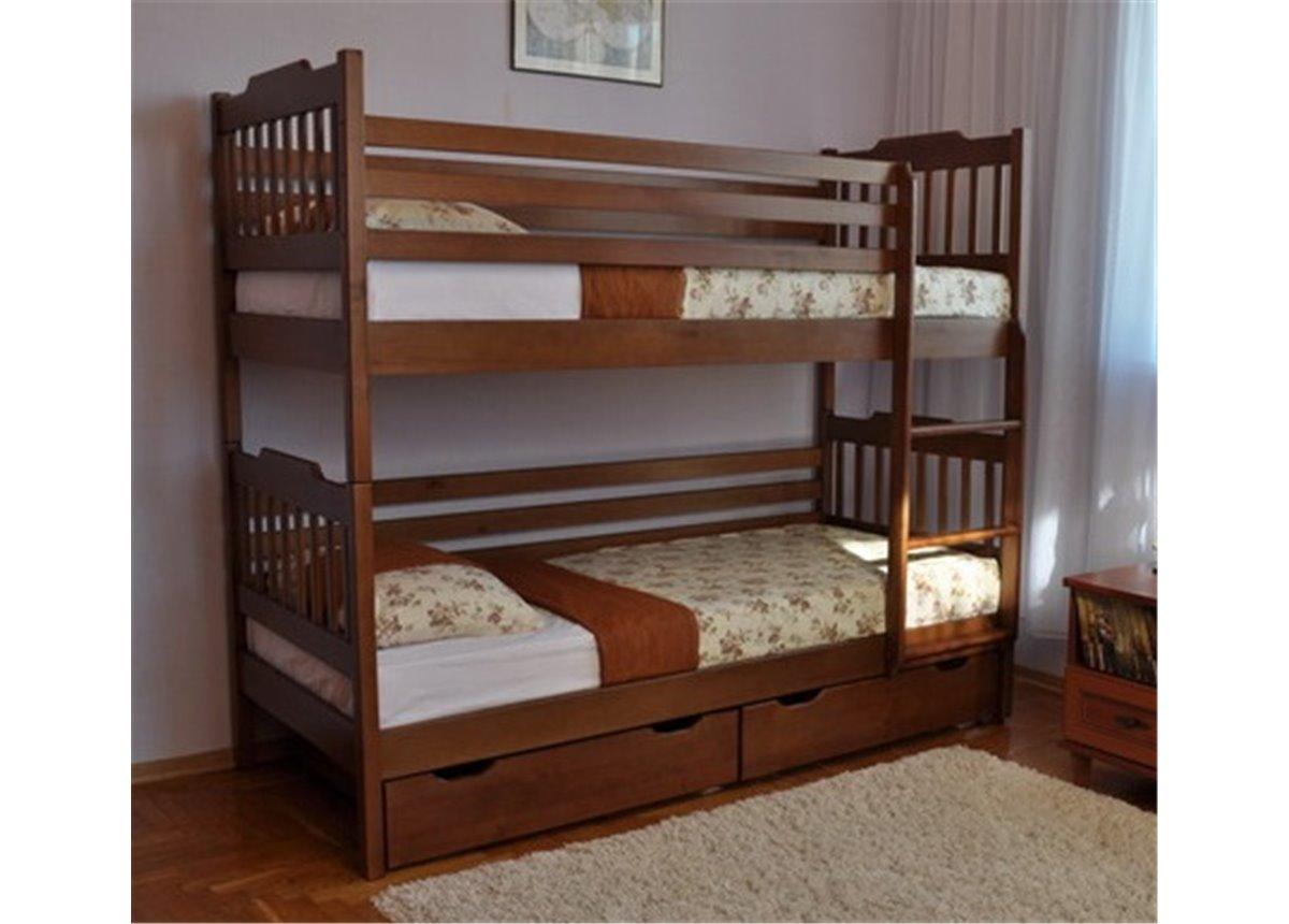 Двухъярусная кровать Ева (без выдвижных ящиков) Венгер 80x190