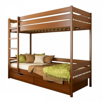 Двухъярусная кровать Дуэт щит бука Эстелла 80х190 Щит
