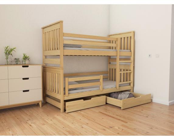 Кровать двухъярусная-трансформер Адель Duo (масcив) Луна 90x200