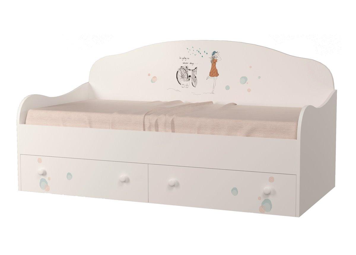 Кроватка диванчик Гламур 80x190