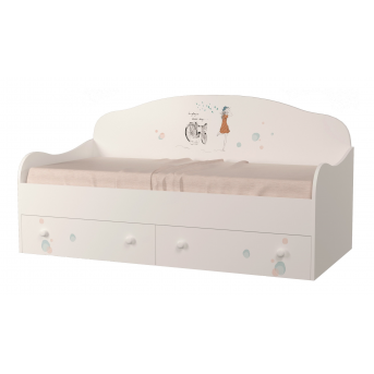 Кроватка диванчик Гламур с ящиком MebelKon 80x170