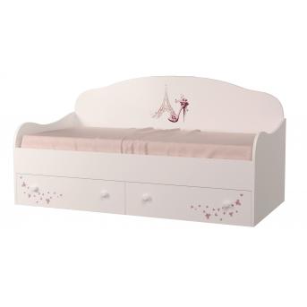 Кроватка диванчик Париж с ящиком и бортиком MebelKon 80x190