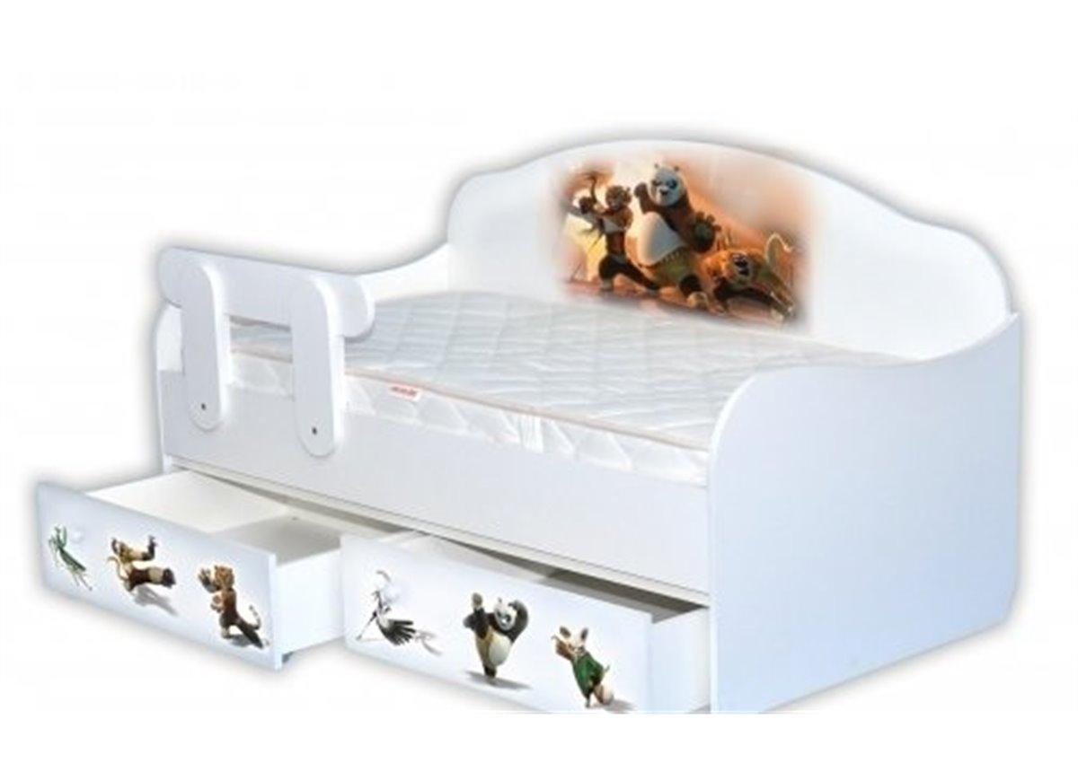 """Кроватка-диванчик """"Панда Кунг-фу"""" 90х190 MebelKon"""