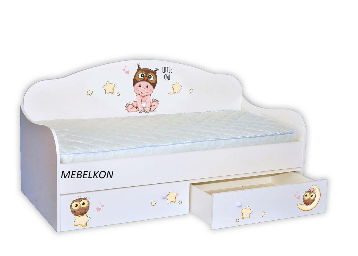 """Кровать-диванчик """"Мальчик-совенок"""" 90х190 MebelKon"""
