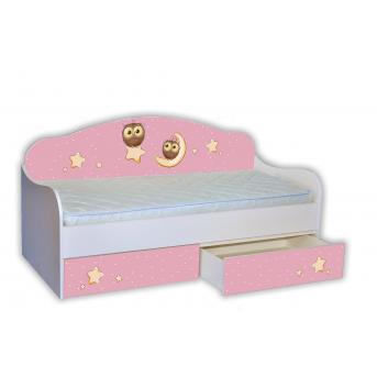 """Кровать-диванчик """"Сова на розовом"""" 90х190 MebelKon"""