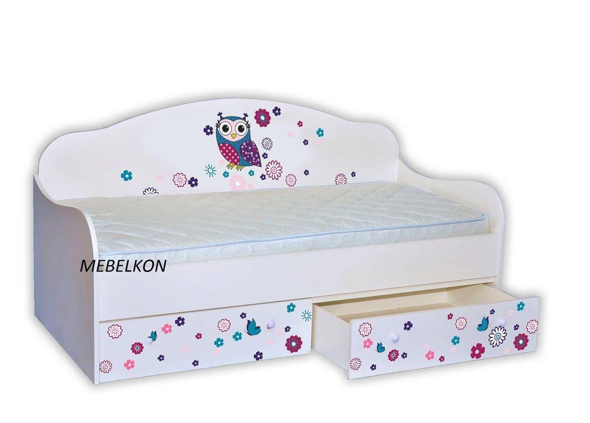 """Кровать-диванчик """"Сова цветная"""" 90х190 MebelKon"""