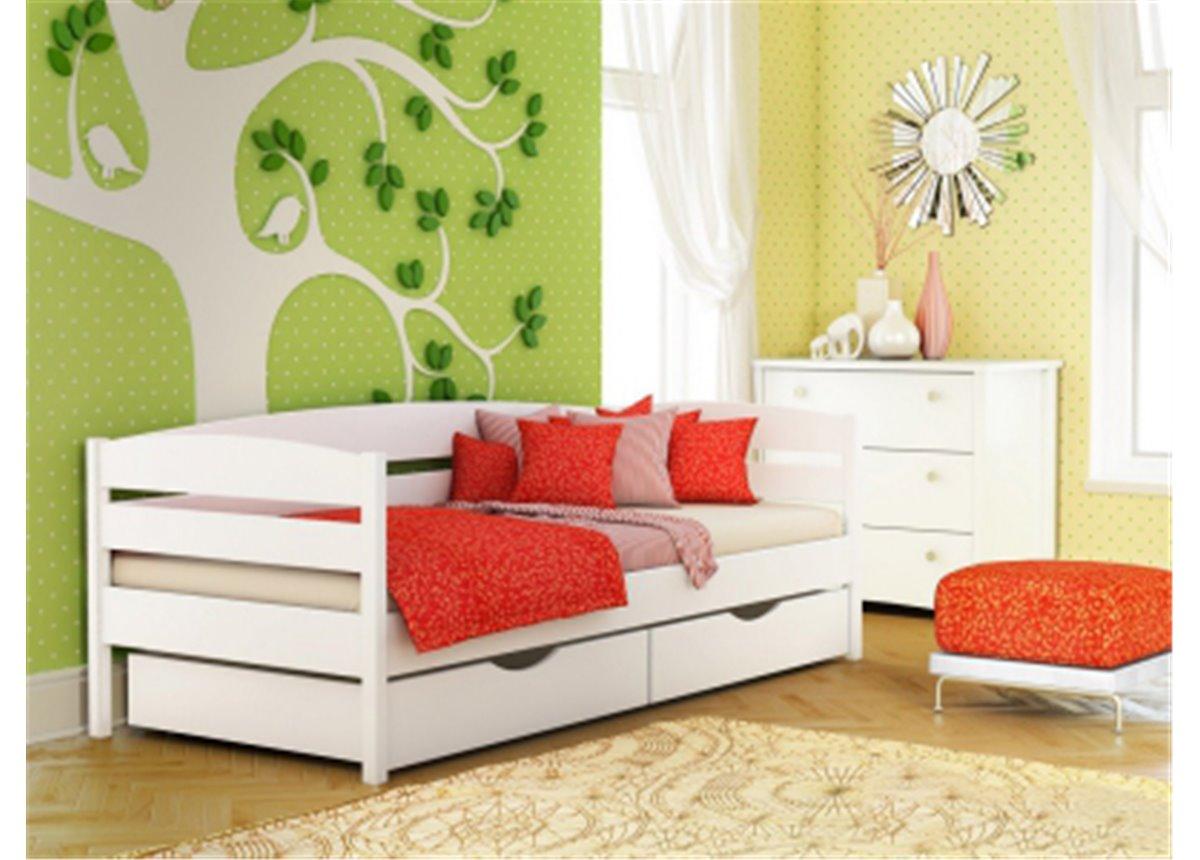 Кровать Нота Плюс 90х200 бук массив Эстелла