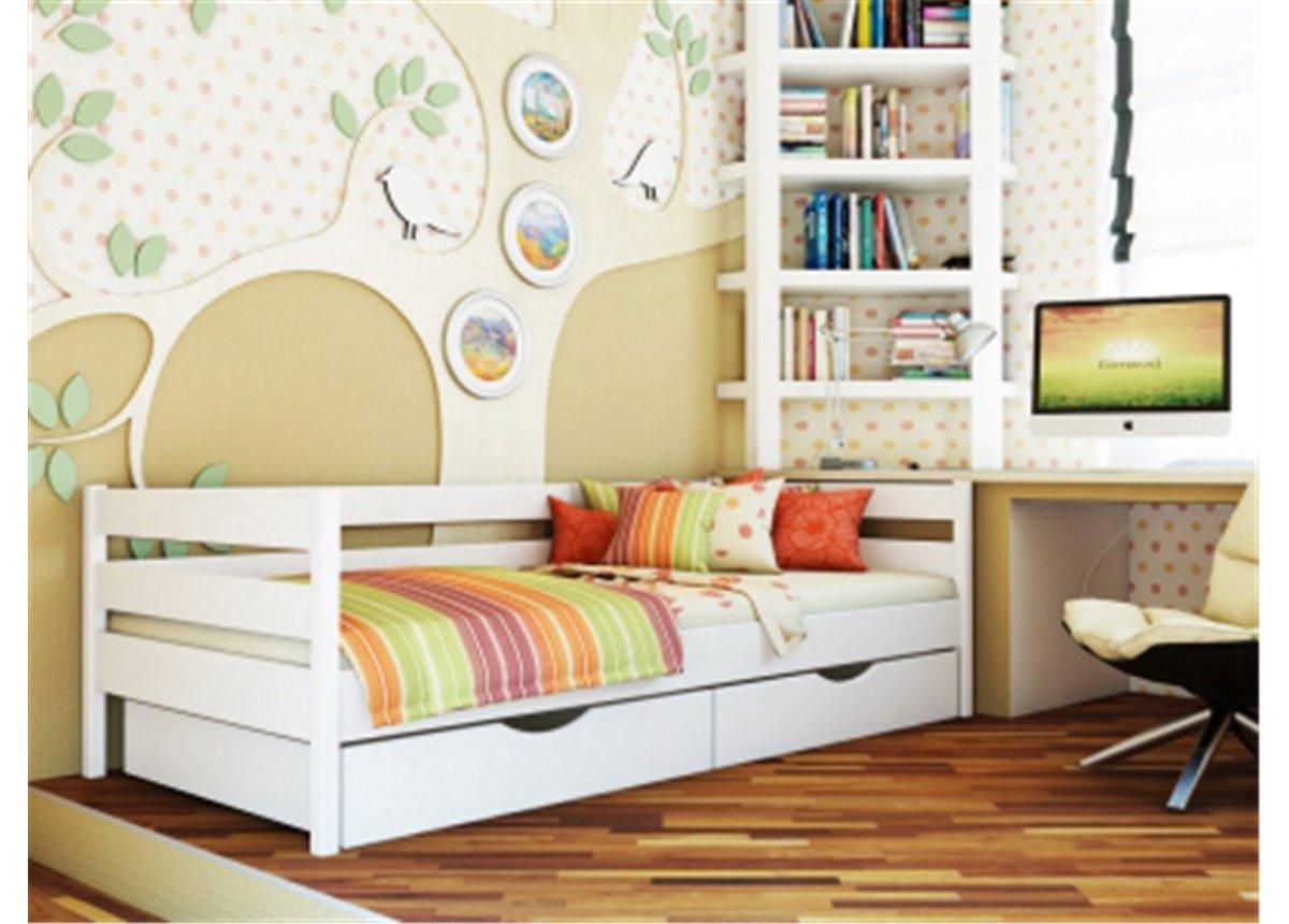 Кровать Нота 90х200 бук массив Эстелла