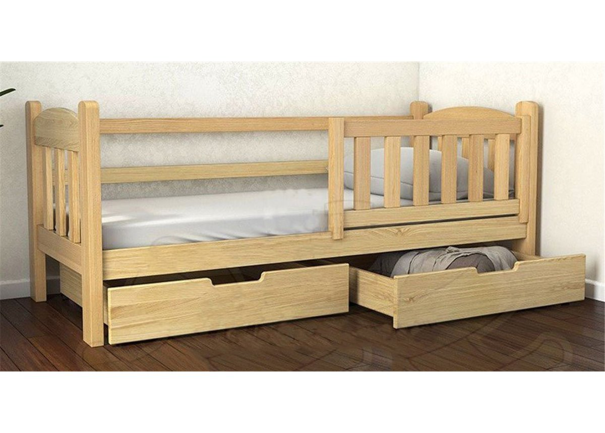 Кровать-диванчик Элии (масcив) Луна 90x200 натуральный бук