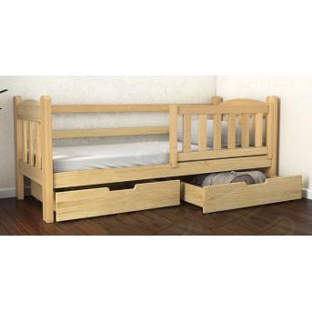 Кровать-диванчик Элии (масcив) Луна 80x160 натуральный бук