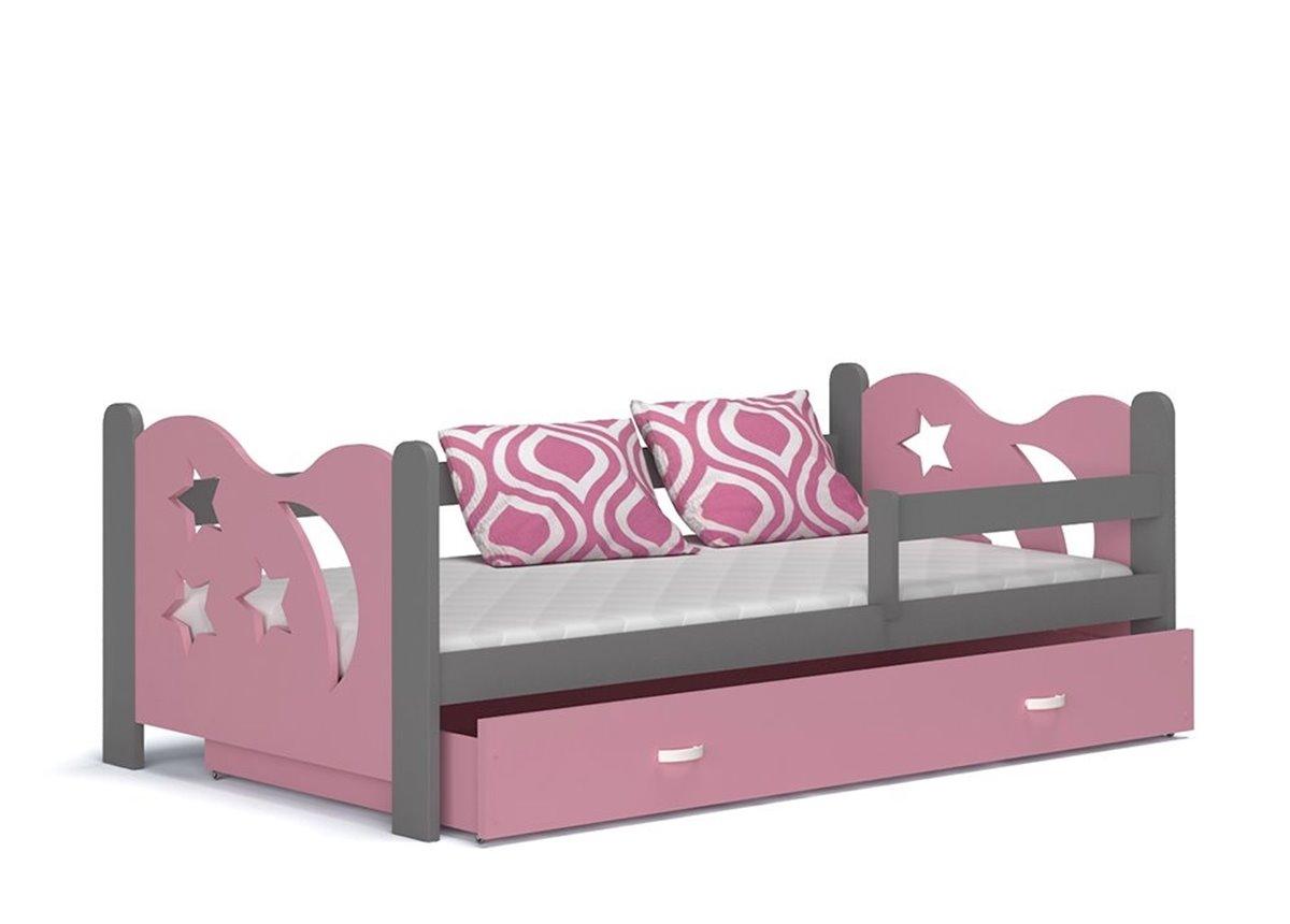Кровать НИКОЛАЙ с ящиком Fmebel KA серый