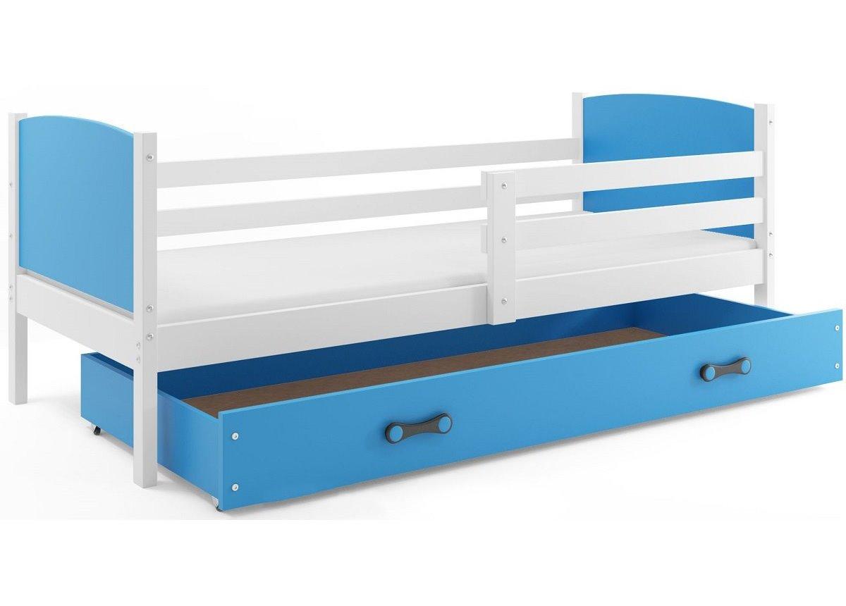 Кровать + 1 матрас + 1 ящик + бортик TAMISingle BMS Group 80x190