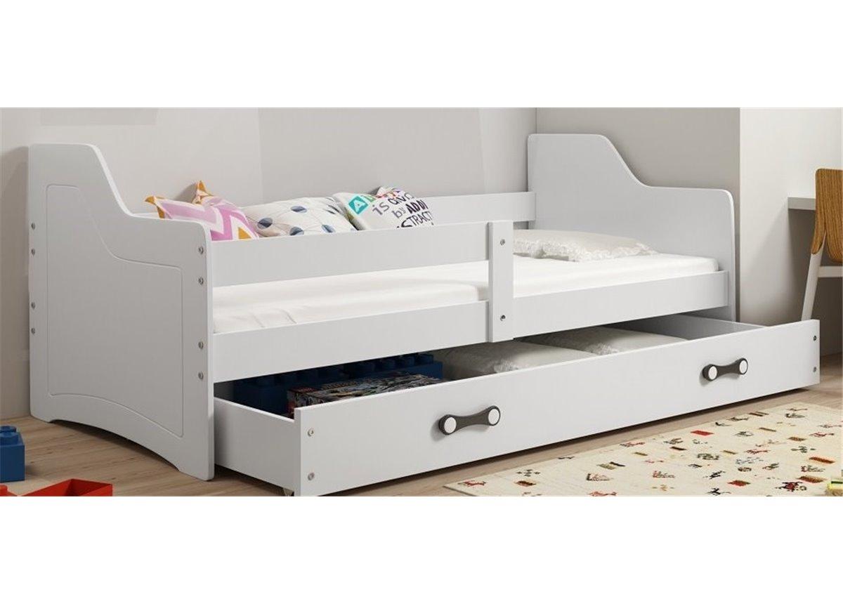 Кровать + 1 матрас + 1 ящик + бортик SOFIXSingle BMS Group 80x160