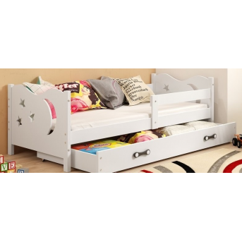 Кровать + 1 матрас + 1 ящик + бортик MIKOSingle BMS Group 90x200