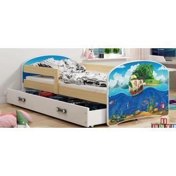 Кровать + 1 матрас + 1 ящик + бортик LUKISingle BMS Group 80x160