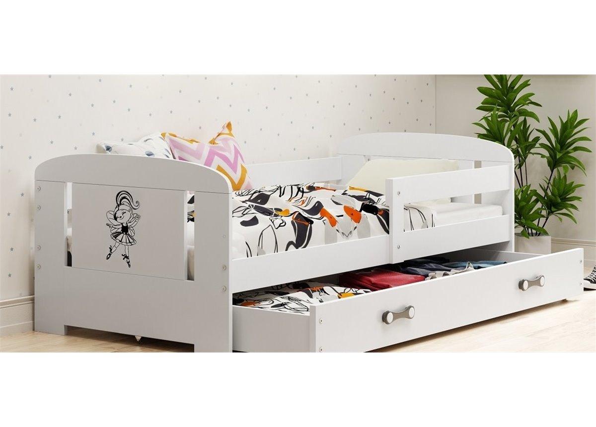 Кровать + 1 матрас + 1 ящик + бортик FILIP Single BMS Group 80x160