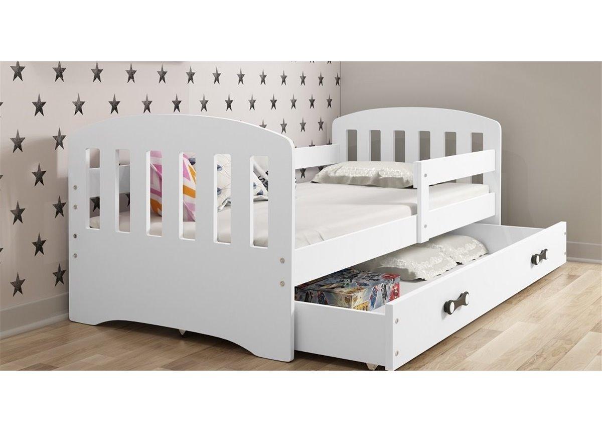 Кровать + 1 матрас + 1 ящик + бортик CLASSICSingle BMS Group 80x160