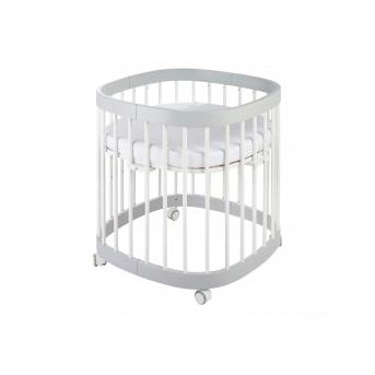Кроватка многофункциональная 7 в 1 Tweeto 70x122 серый с белым