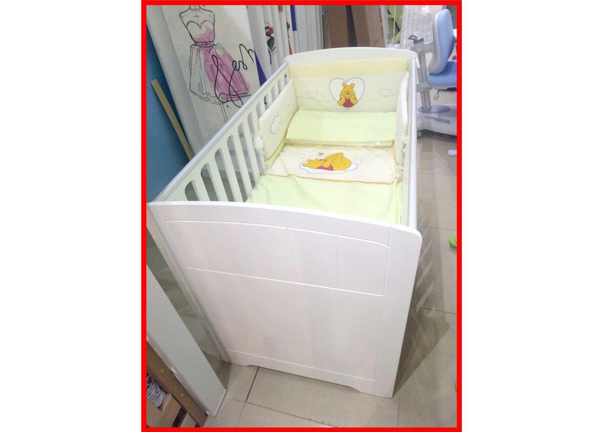 Распродажа 910 Постельный набор кроватки для новорожденного Меблик Серия Винни и друзья