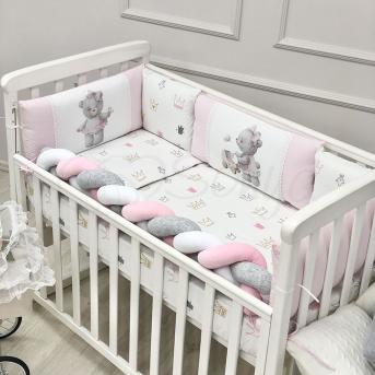 Защита Kids toys + простынь Мишка розовый Маленькая Соня