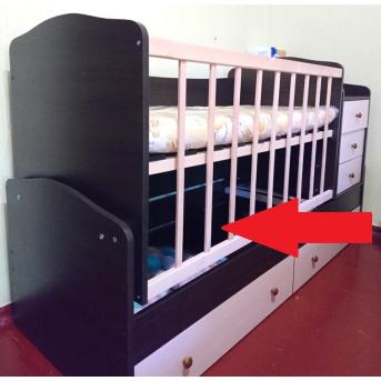 Защита нижних ящиков (ДВП шлифованное) к кроватке-трансформеру Дрим Fmebel