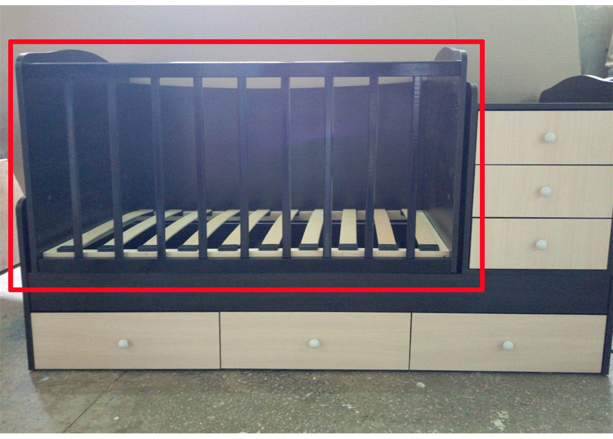Решетка к кроватке-трансформеру Дрим Fmebel венге