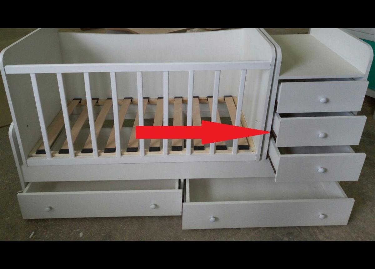 Замена роликовых направляющих на телескопические в тумбочках кроватки Дрим Fmebel