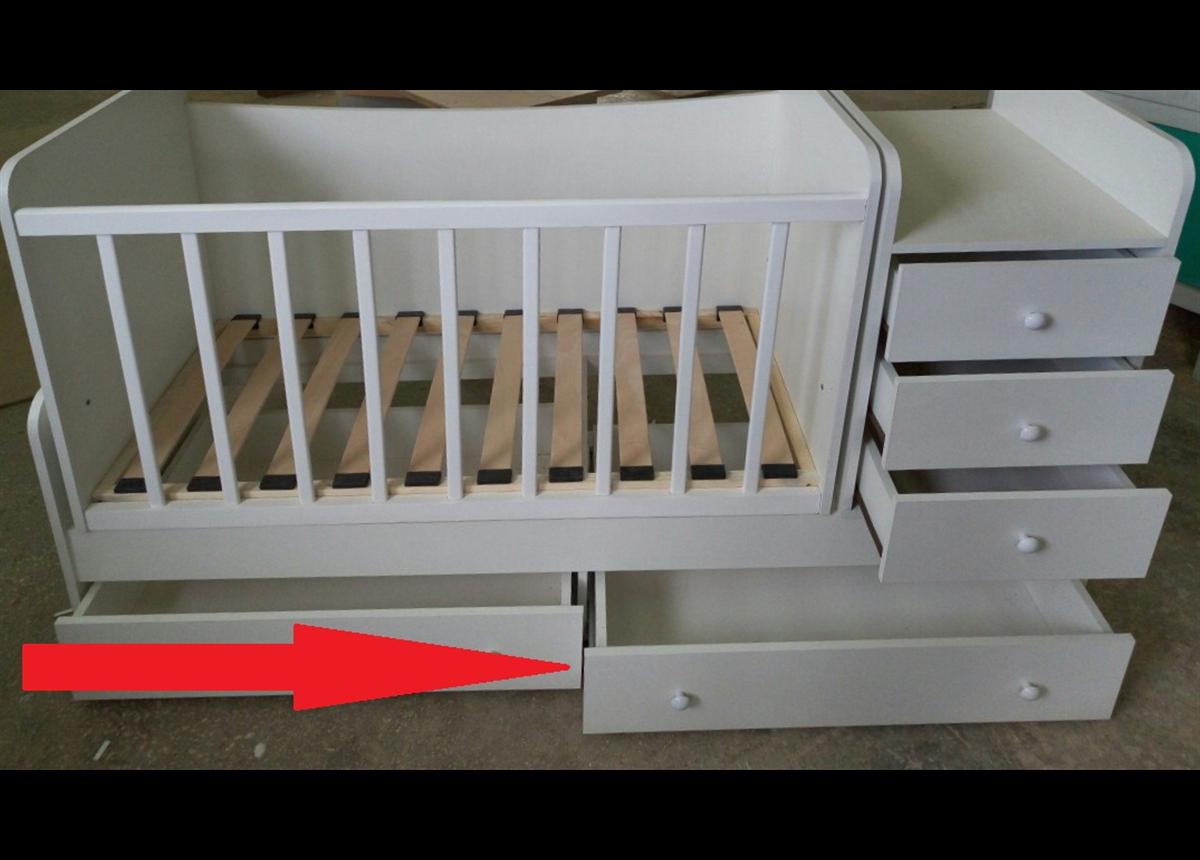 Замена роликовых направляющих на телескопические в подкроватных ящиках кроватки Дрим Fmebel