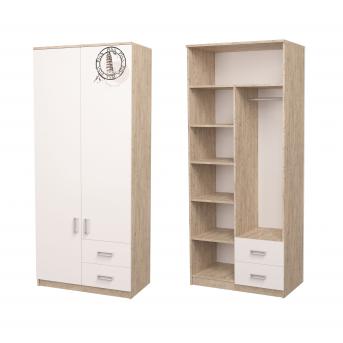 Шкаф Junior с рисунком Дуб шервуд/белый 211x100x50 MebelKon