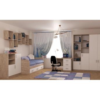 Комната Travel Дуб Шервуд/Белый MebelKon