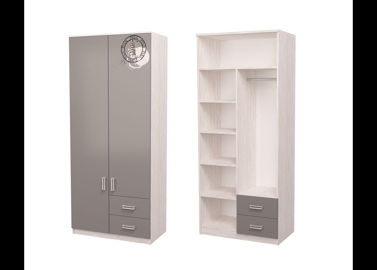 Шкаф Junior с рисунком Дуб шервуд/белый 211x80x50 MebelKon