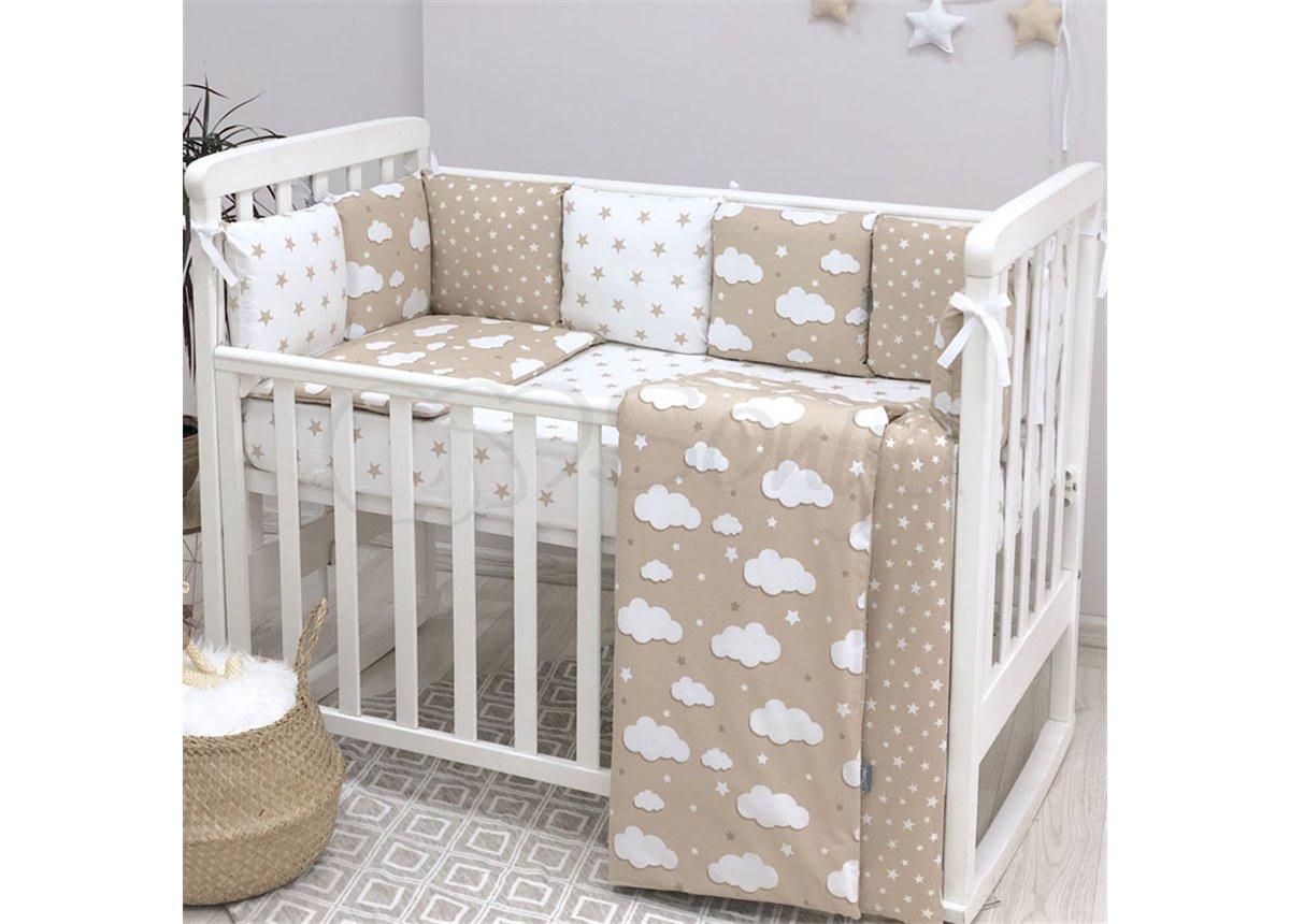 Комплект Baby Design Облака бежевый (6 предметов) Маленькая Соня