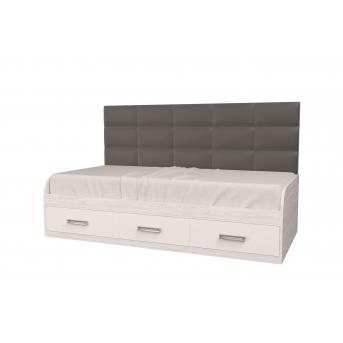 Кровать Элли Аляска/Белый 90x190 MebelKon