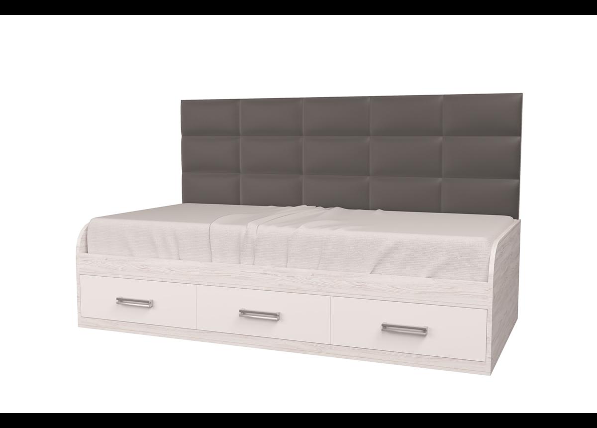 Кровать Элли Аляска/Белый 120x190 MebelKon