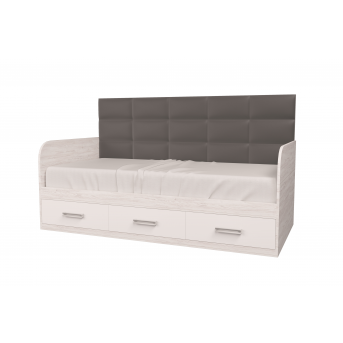 Кровать Элли-1 Аляска/Белый 90x190 MebelKon