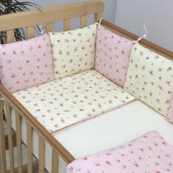 Бортики Baby Design Прованс розовый Маленькая Соня
