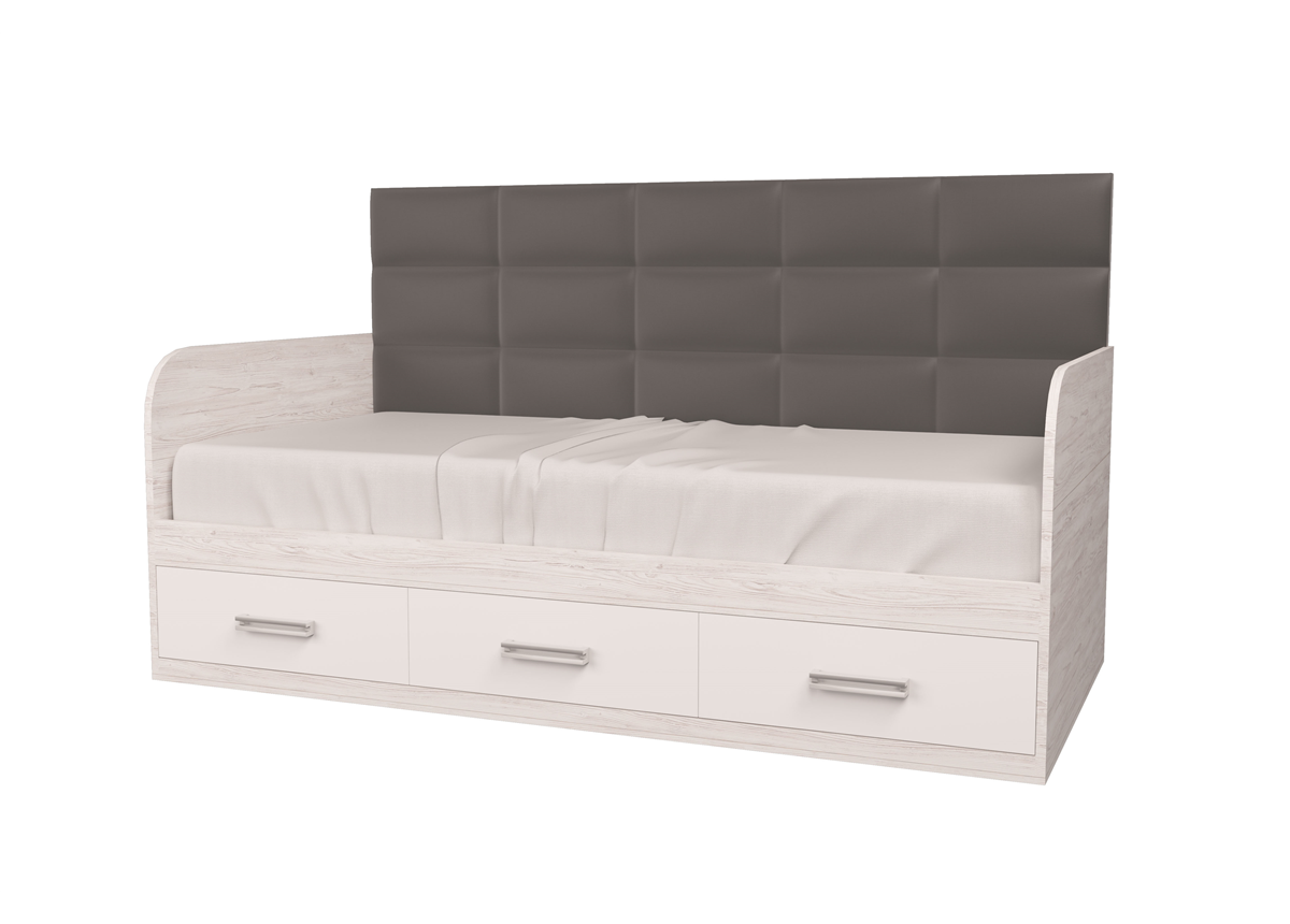 Кровать Элли-1 Аляска/Белый 120x190 MebelKon