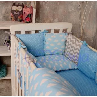 Бортики Baby Design Облака + простыня Маленькая Соня