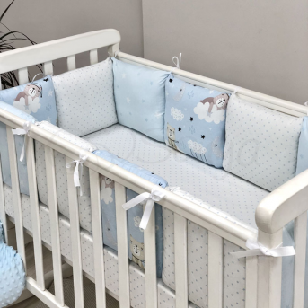Бортики Baby Design Коты в облаках голубой Маленькая Соня