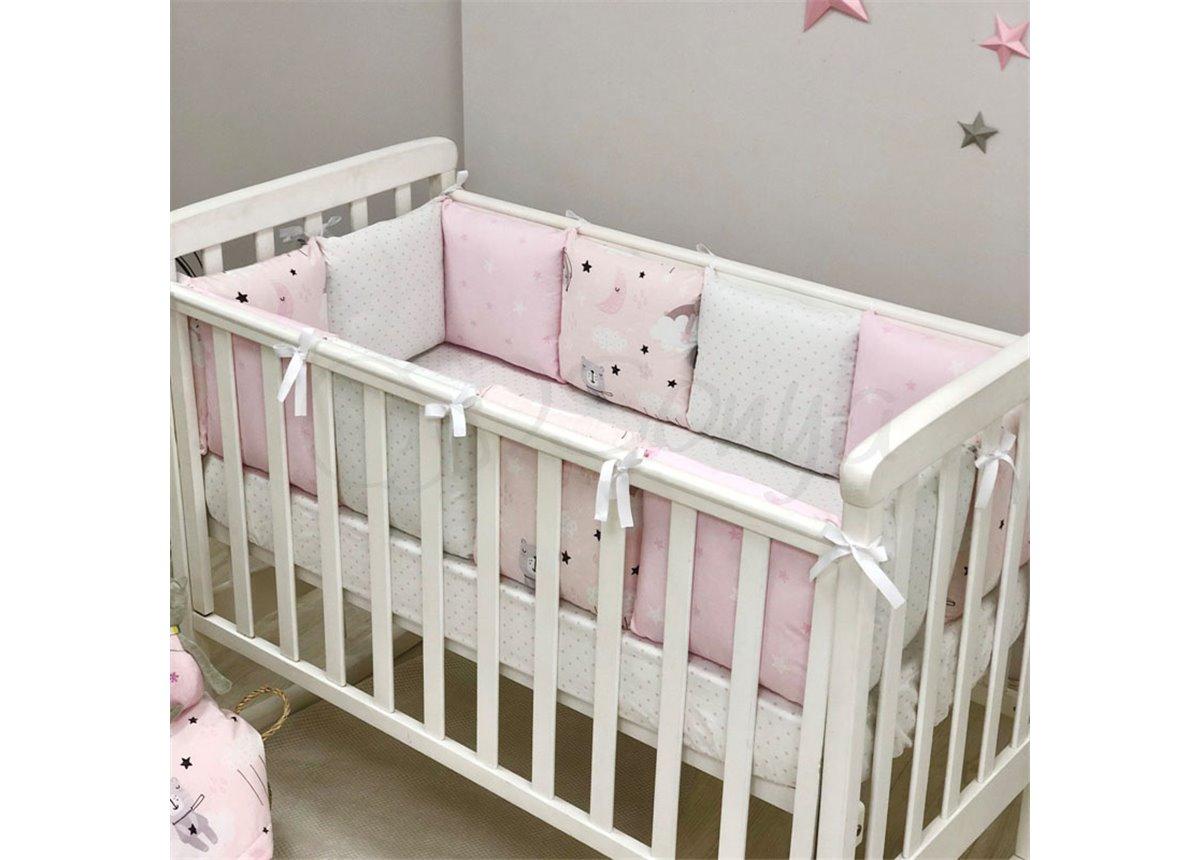 Бортики Baby Design Коты в облаках розовый Маленькая Соня