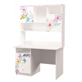 Стол с надстройкой Цветы MebelKon