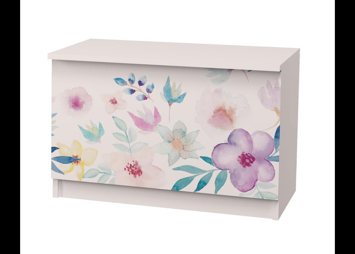 Ящик для игрушек 50x75x45 Цветы MebelKon