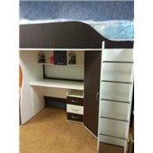 Кровать-чердак с мобильным столом и угловым шкафом (к9) Fimebel 80x190