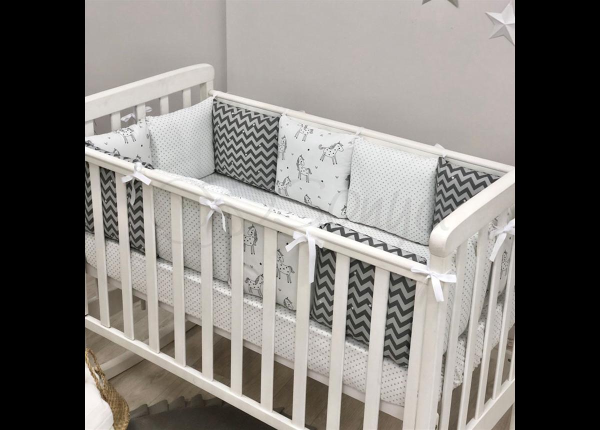Бортики Baby Design Единороги + простынь Маленькая Соня