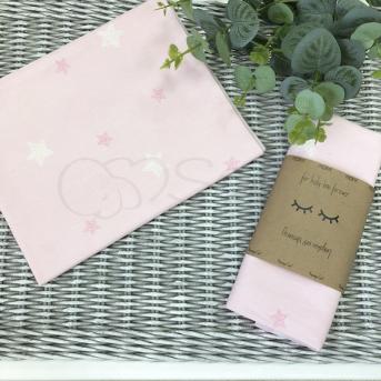 Пеленка бязь Маленькая Соня 80х100 звезды на розовом