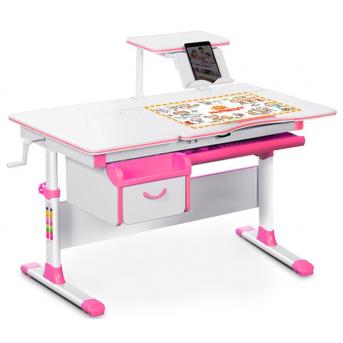 Детский стол (стол+ящик+надстройка) Evo-40 розовый Evo-kids