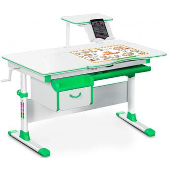Детский стол (стол+ящик+надстройка) Evo-40 зелёный Evo-kids