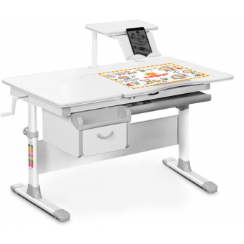 Детский стол (стол+ящик+надстройка) Evo-40 серый Evo-kids