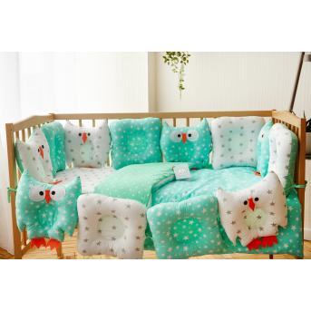 Спальный набор в детскую кровать Совушки Добрый сон 60х120