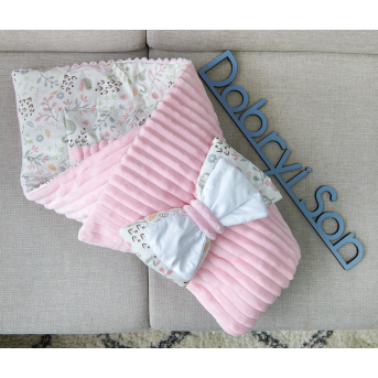 Конверт-одеяло Сатин+плюш Stripes Фламинго Добрый Сон